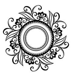 Beautiful Deco Floral Circle vector image