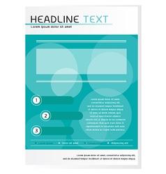Blue Brochure Design Template vector image