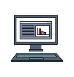 computer desktop display isolated icon vector image vector image