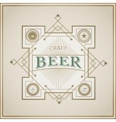 Good craft beer brewery vintage label vector image vector image
