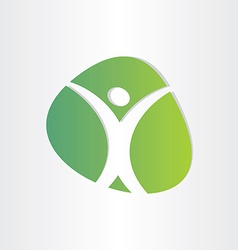 healthy man green icon medical vector image