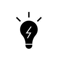 lamp idea icon black sign on vector image