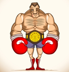 Professional boxer after fight vector