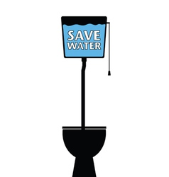 save water on a toilet vector image vector image