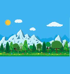 summer nature mountain landscape national park vector image vector image