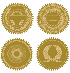 Award seal set vector