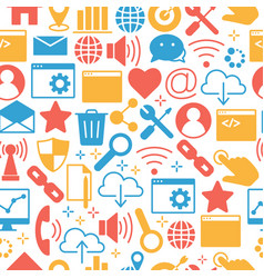internet pattern of icons set vector image vector image