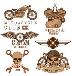 Motorcycle Design Element vector image