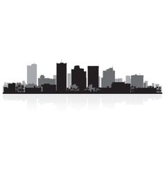 Phoenix USA city skyline silhouette vector image vector image