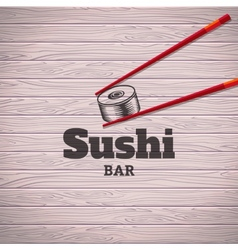 Sushi poster vector image vector image