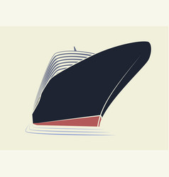 The big nose of a cruise liner simple logo ship vector