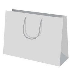 wide paper bag mockup realistic style vector image vector image