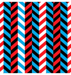 seamless geometric blue and red pattern vector image