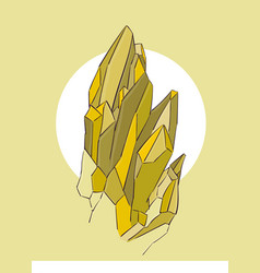 yellow crystals on a beige background eps 8 vector image