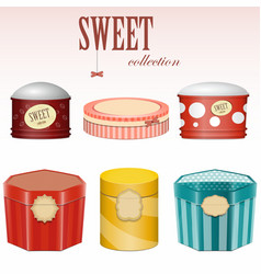 candy gift boxes vector image vector image
