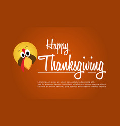 Happy thanksgiving with turkey background vector