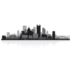 Pittsburgh USA city skyline silhouette vector image vector image