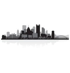 Pittsburgh USA city skyline silhouette vector image
