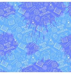 Seamless abstract school pattern vector image