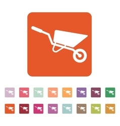 The wheelbarrow icon Barrow symbol Flat vector image