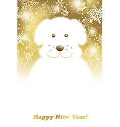 A new years card with a doggy snowman vector