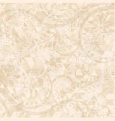 Abstract background with floral motif vector