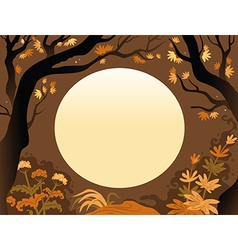 Background of autumn trees vector