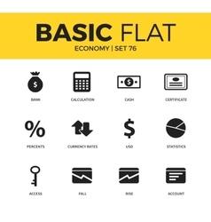 Basic set of economy icons vector image