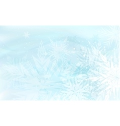 Beautiful blue winter background with snowflakes vector