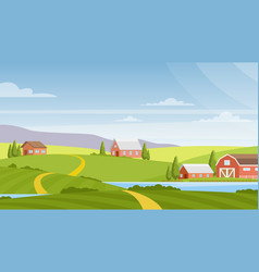 Beautiful rural landscape vector