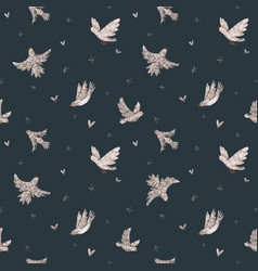 beautiful seamless pattern with cute hand vector image