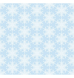 Blue seamless snowflake pattern vector