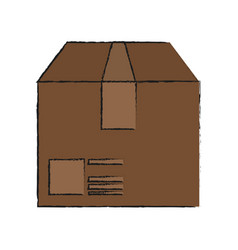box cardboard isolated vector image