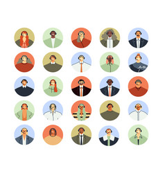 call center assistant avatar client support vector image