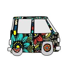 car a mini van vector image