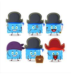 Cartoon character blue christmas envelopes vector
