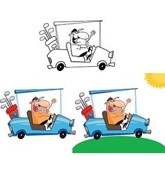 Cartoon golfer vector image