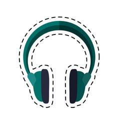 Cartoon headphones music sound device vector