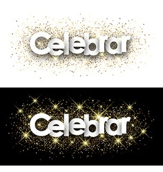 Celebrate paper banner vector image