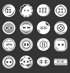 clothes button icons set grey vector image