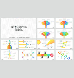 Collection of minimal infographic design templates vector
