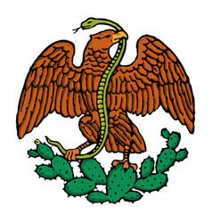 color mexican eagle vector image