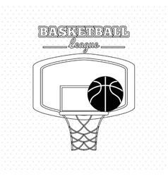 colored basketball icon vector image