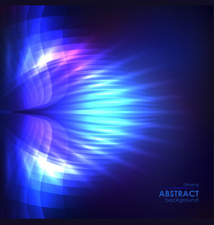 cosmic shining blue background vector image