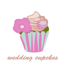 cupcake icon on the white background for your vector image vector image