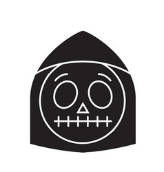 death emoji black concept icon death emoji vector image