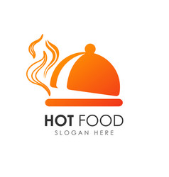 dish food hot meal restaurant icon vector image
