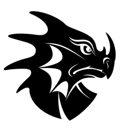 Dragon head symbol vector image