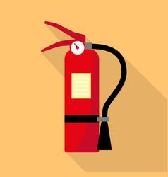 flame extinguisher icon flat style vector image