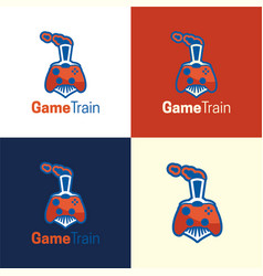 game train logo and icon vector image